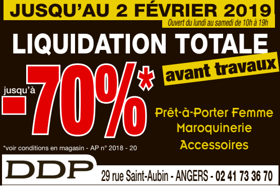 liquidation totale DDP